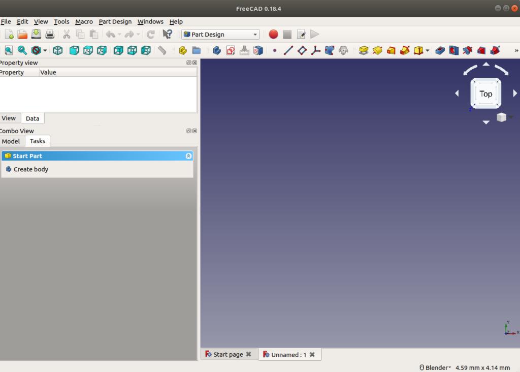 Part design screen
