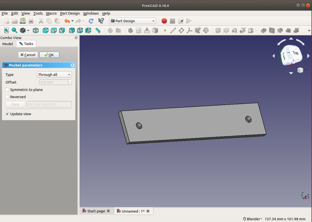 Our sketch into a 3D object plate from scratch.