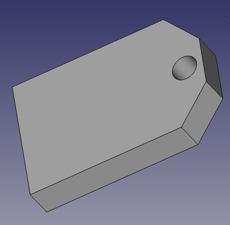 the keyfob as a slab before angling the surface and adding text