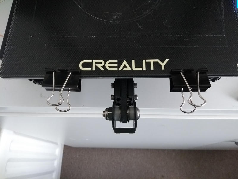 Creality Ender 3 attaching glass bed with Spring Clips