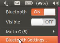 Bluetooth setting access